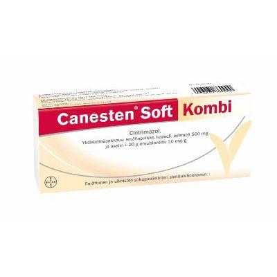 CANESTEN SOFT KOMBI 500 mg + 10 mg/g emulsiovoide + emätinpuikko, kaps pehmeä 1+20 g