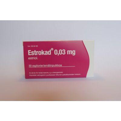 ESTROKAD 0,03 mg emätinpuikko 30 fol