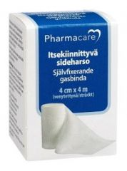 Pharmacare Itsekiinn. sideharso 4cmx4m X1 kpl